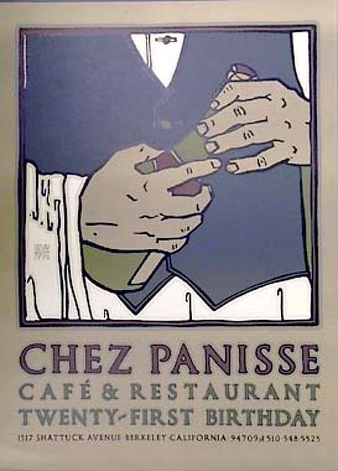 GOINES-C-14AUG01-FD-JRS-Copy shots Chez Panisse menus and posters by artist David Goines. Photo: John Storey