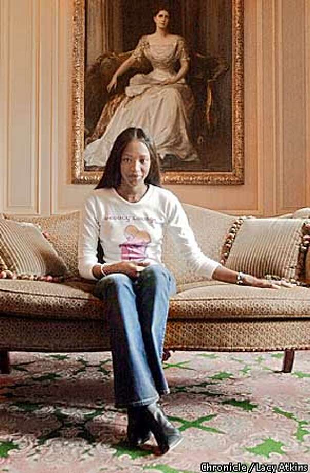 "Supermodel, Naomi Campbell, poses in the lobby of the Ritz-Carlton Hotel, Monday Aug.20,01. She is staring as one of the parts in ""Vagina Monologues"", in San Francisco.  Photo By Lacy Atkins/SanFrancisco Chronicle Photo: Lacy Atkins"