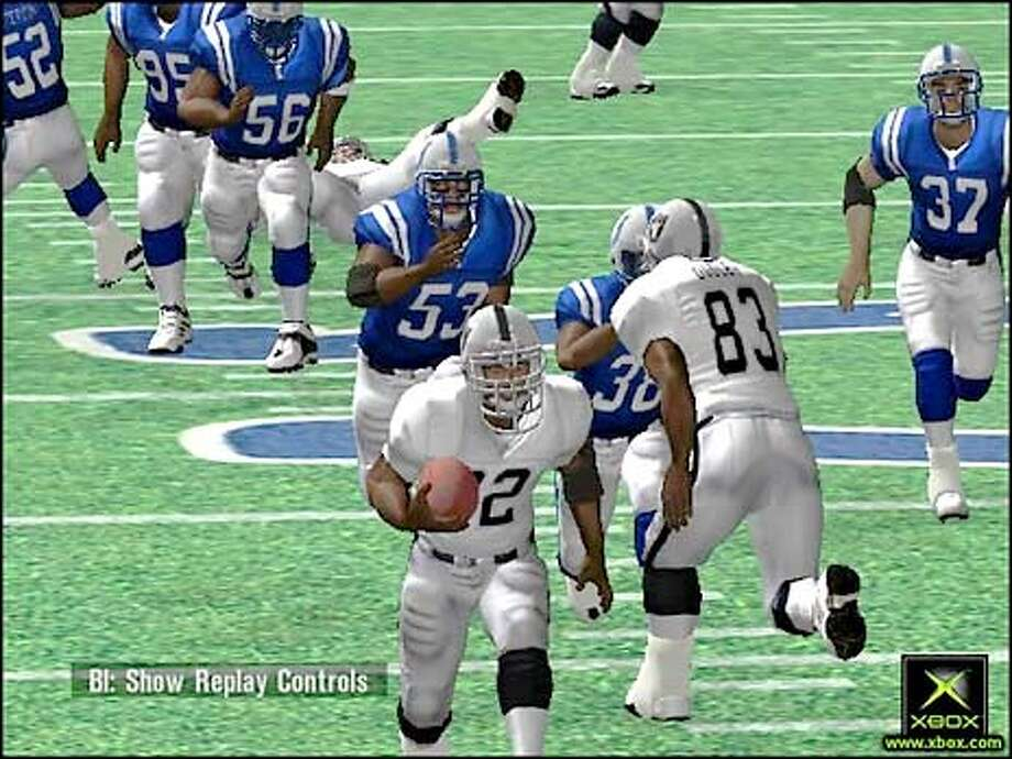 Close attention to such details as realistic stadium lighting makes Microsoft's NFL Fever 2002 game almost like the real thing. Photo courtesy of Microsoft