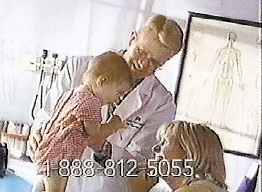An example of Kaiser's television ad campaign which showing a positive image of the doctor-patient relationship at Kaiser.  Photo is a frame-grab from a videotape supplied by Milana Rossi at Milberg Weiss Bershad Hynes and Lerach. Photo: Handout