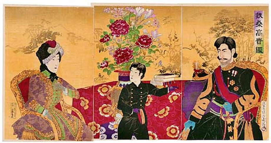 Meiji Woodblock Print from the Jean S. and Frederic A. Sharf Collection, Museum of Fine Arts, Boston. For Kenneth Baker's ARTNOTES21.
