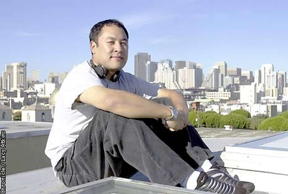 "Dan ""The Automator"" Nakamura, a local celebrity producer , was named one of the 40 most influential people in music for 2001, on the roof top of his record label in San Francisco. Photo By Lacy Atkins/SanFrancisco Chronicle Photo: Lacy Atkins"