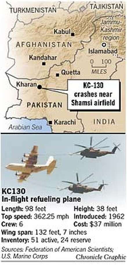 KC130 In-Flight Refueling Plane. Chronicle Graphic