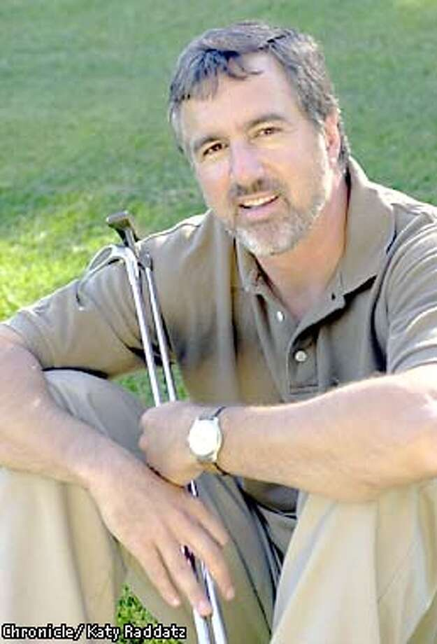 Photo by Katy Raddatz--The Chronicle Gregory Barton has written a book called TALES FROM THE FRINGE, which is about adventures on the golf course. We photograph him on Moraga Country Club golf course, where he doesn't play because he isn't a member. Photo: KATY RADDATZ