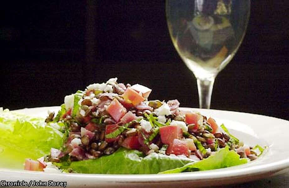 WORKCOOK22-C-08AUG01-FD-JRS-Lentil Salad with Prosciutto for Working Cook. Chronicle photo by John Storey. Photo: John Storey