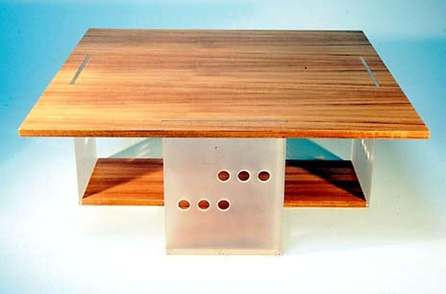 HOTSTUFF1-C-09AUG01-HM-HO -- Trinity coffee table.