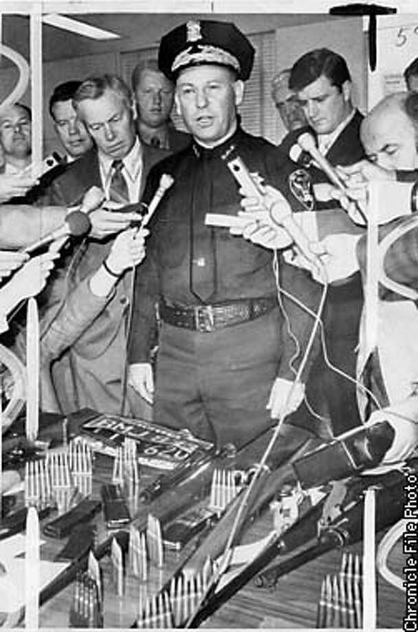 then San Francisco Police Chief Alfred Nelder holds a press conference to discuss a murder case back in 1971. THIS IS A HANDOUT IMAGE. PLEASE VERIFY RIGHTS. Photo: Joe Rosenthal