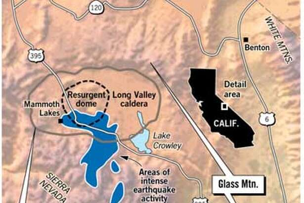 Long Valley Caldera. Chronicle Graphic