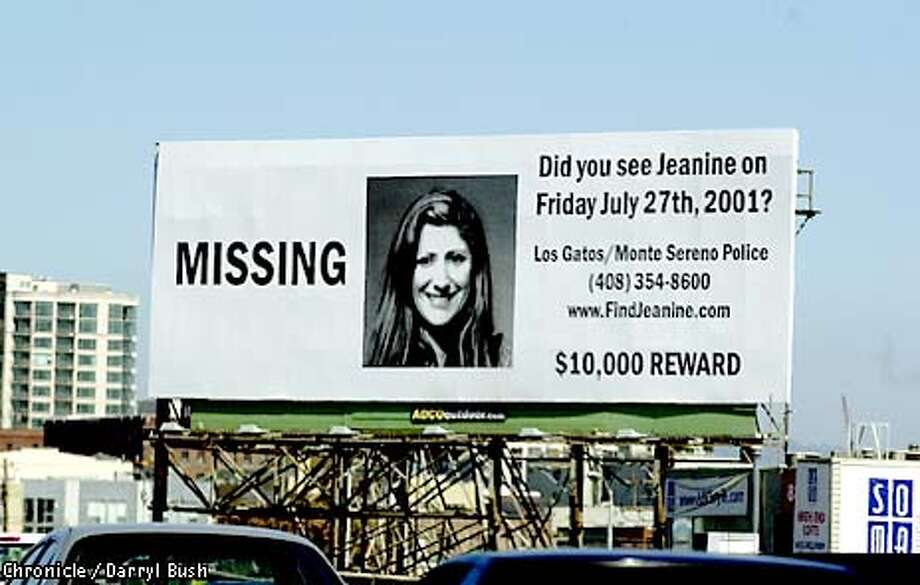 Billboard for missing woman, Jeanine Harms, is seen northbound on Hwy. 101 in downtown San Francisco. Chronicle Photo by Darryl Bush Photo: Darryl Bush