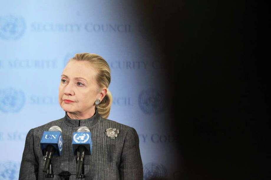Secretary of State Hillary Rodham Clinton is backing a plan calling for Syria's leader to leave in two months. Photo: Mario Tama / 2012 Getty Images