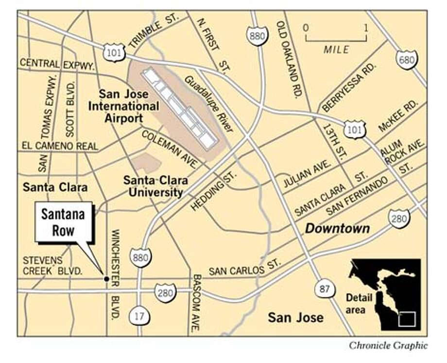 Santana Row. Chronicle Graphic