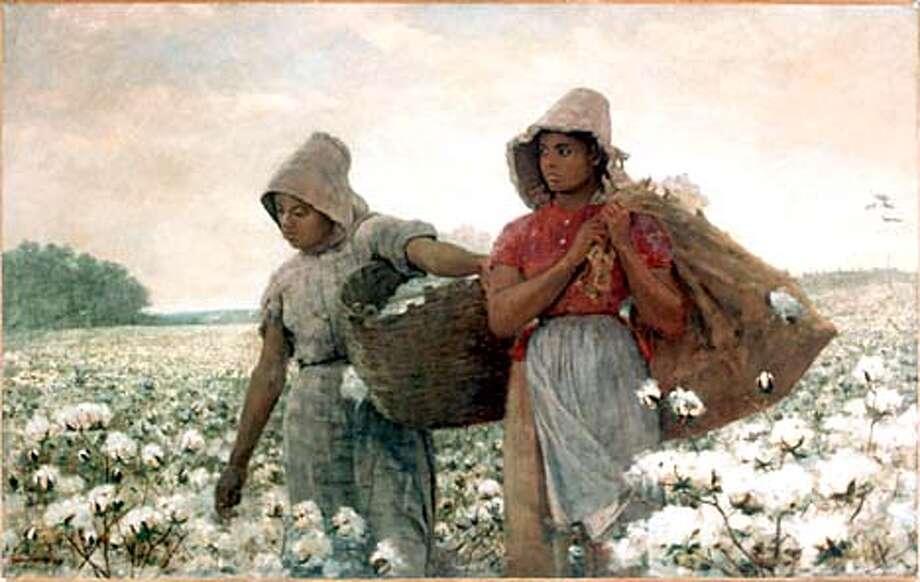 "LA18A-C-16AUG01-DD-HO Winslow Homer's ""The Cotton Pickers,"" 1876, Oil on canvas, LACMA Photo: HANDOUT"