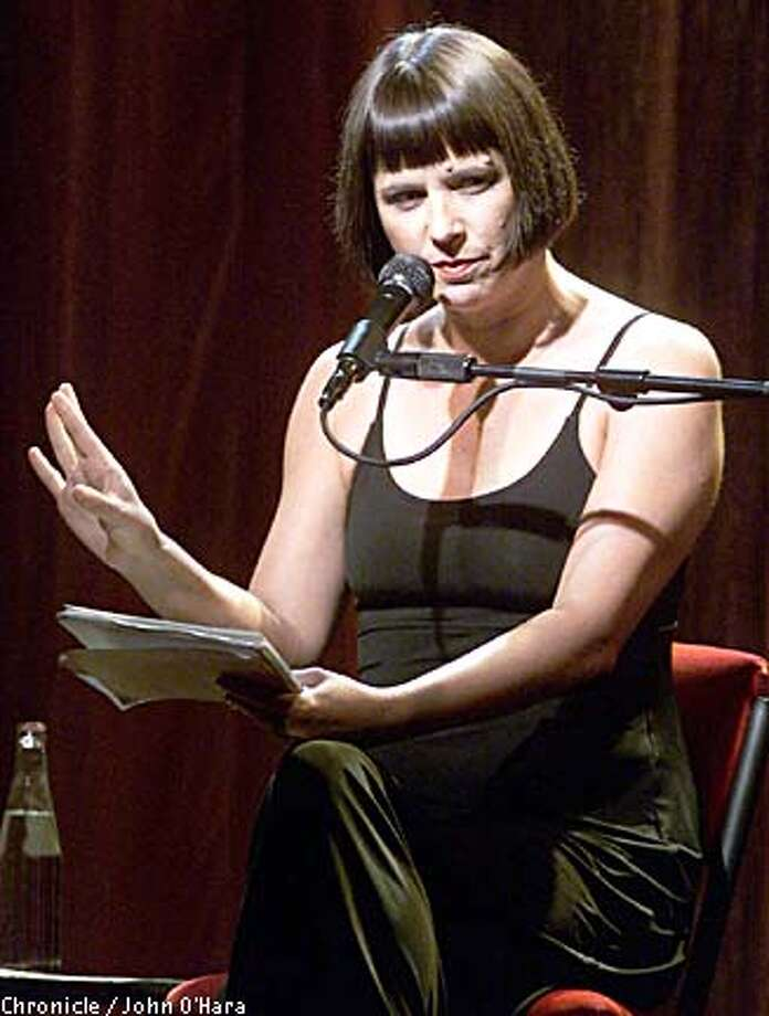 Eve Ensler: monologues at the Masonic. Chronicle photo by John O'Hara
