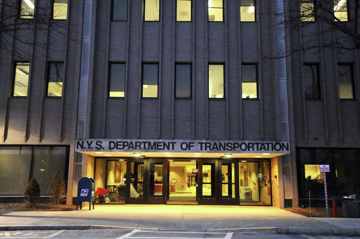 The front door of the Department of Transportation building at 50 Wolf Rd. on Tuesday, Jan. 31, 2012 in Albany, N.Y. The Department of Transportation will move the regional office that oversees its operations in the Capital Region from downtown Schenectady to its Wolf Road headquarters, according to a departmental communication. (Lori Van Buren / Times Union)