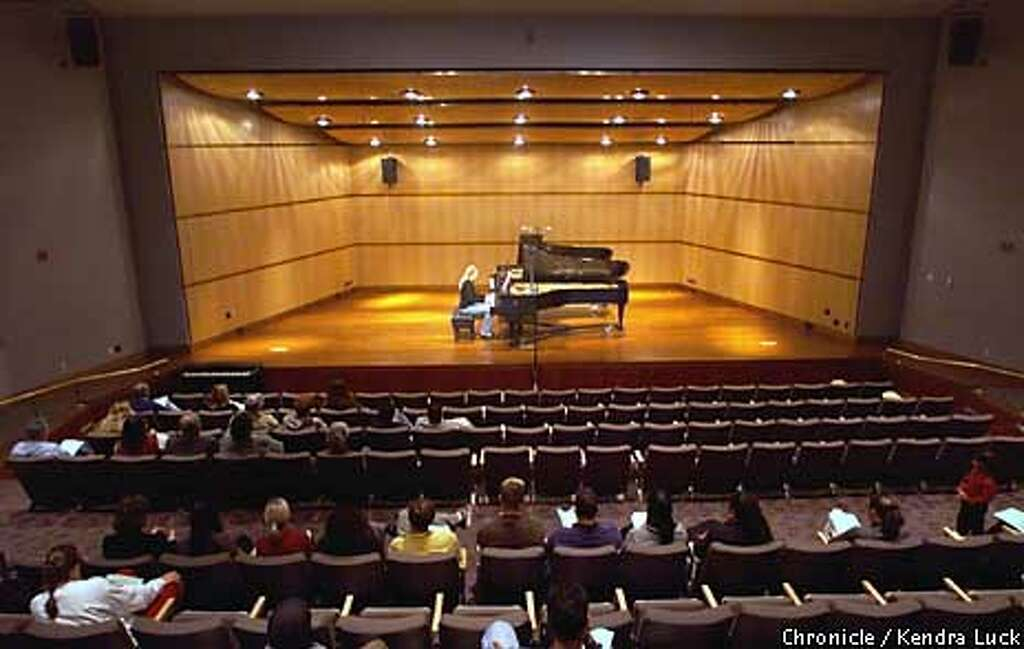 boom times tech rich santa clara university remodels expands annika dell performs in the recital hall of the music and dance building which opened