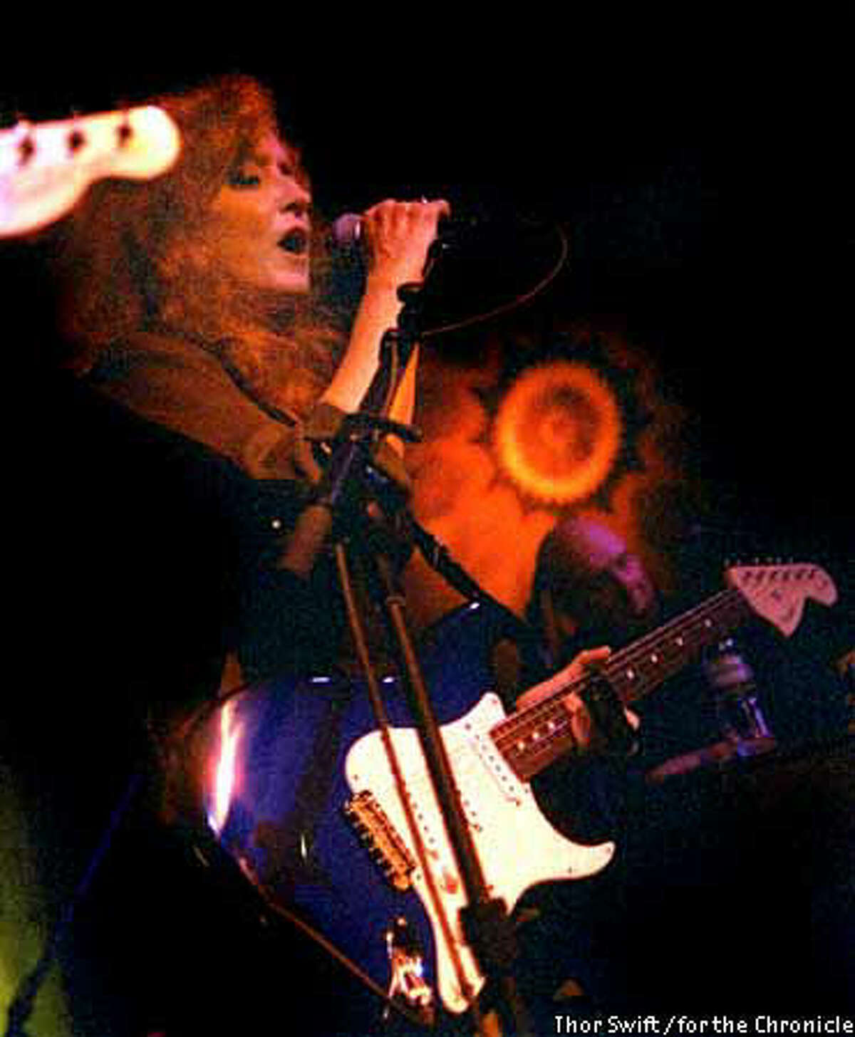 Bonnie Raitt cut loose with a set of R&B and blues songs at Mill Valley's Sweetwater after a gig by her former band, Padlock. Photo by Thor Swift for the Chronicle