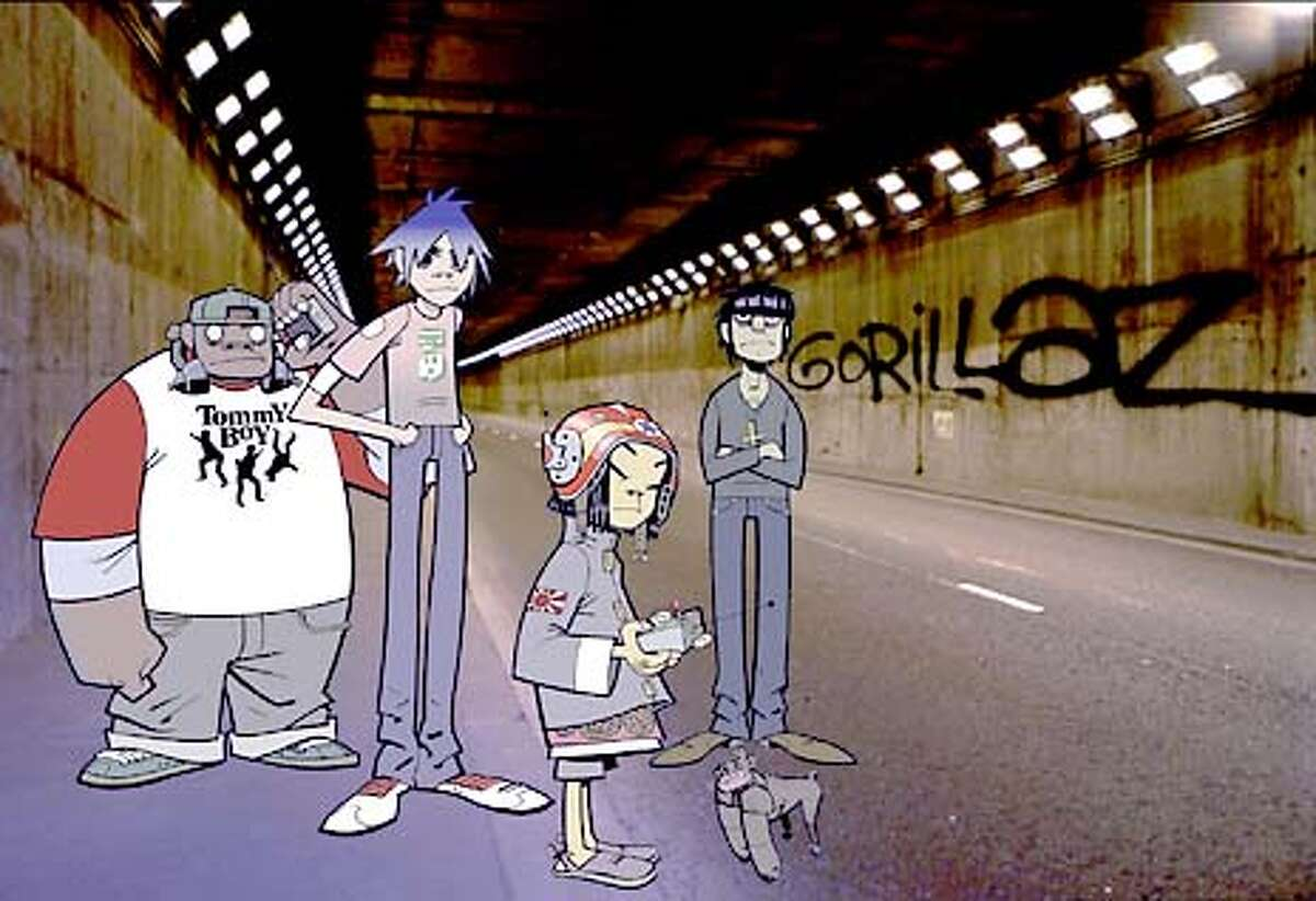 gorillaz in tunnel