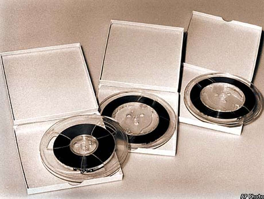 Original tapes from the Nixon White House are shown in this undated handout photo. Decades after the fighting over his tapes began, Richard Nixon is finally getting at least part of his wish. The National Archives, under a court order it had fought for years, on Monday, August 10, 1998 will begin cutting up the original tapes from the Watergate years and returning portions dealing with private matters to the late president's estate. (AP Photo/National Archives)