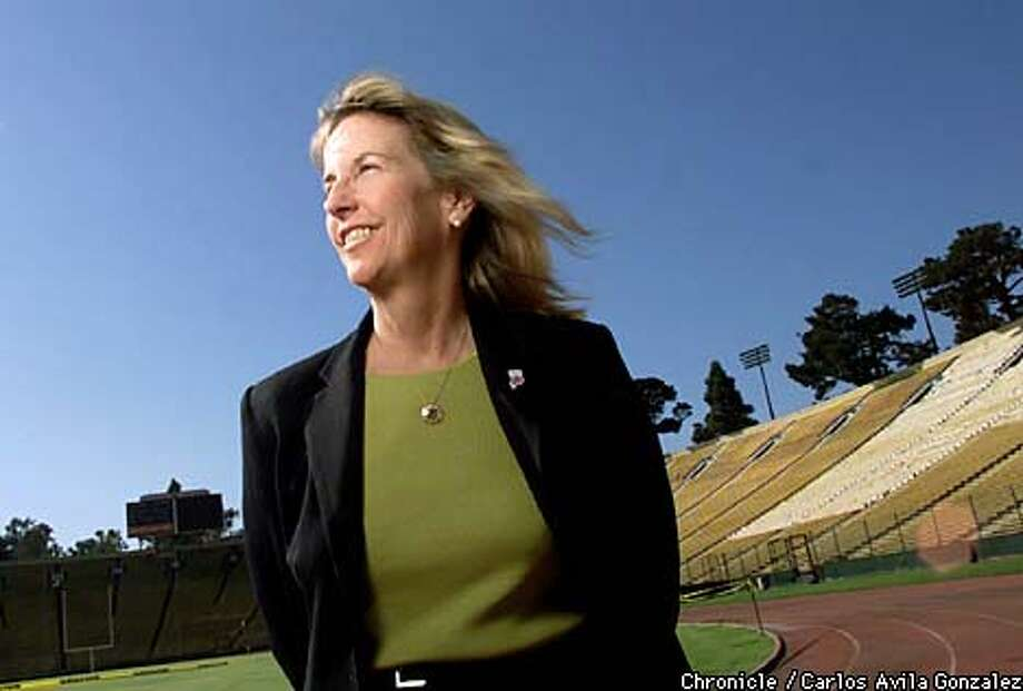 Anne Cribbs is leading the Bay Area's effort to host the Olympics here in 2012. Pictured here at Stanford Stadium (when greatly refurbished) would be the place where the opening and closing ceremonies would be held. (Photo by Carlos Avila Gonzalez/The San Francisco Chronicle) Photo: CARLOS AVILA GONZALEZ