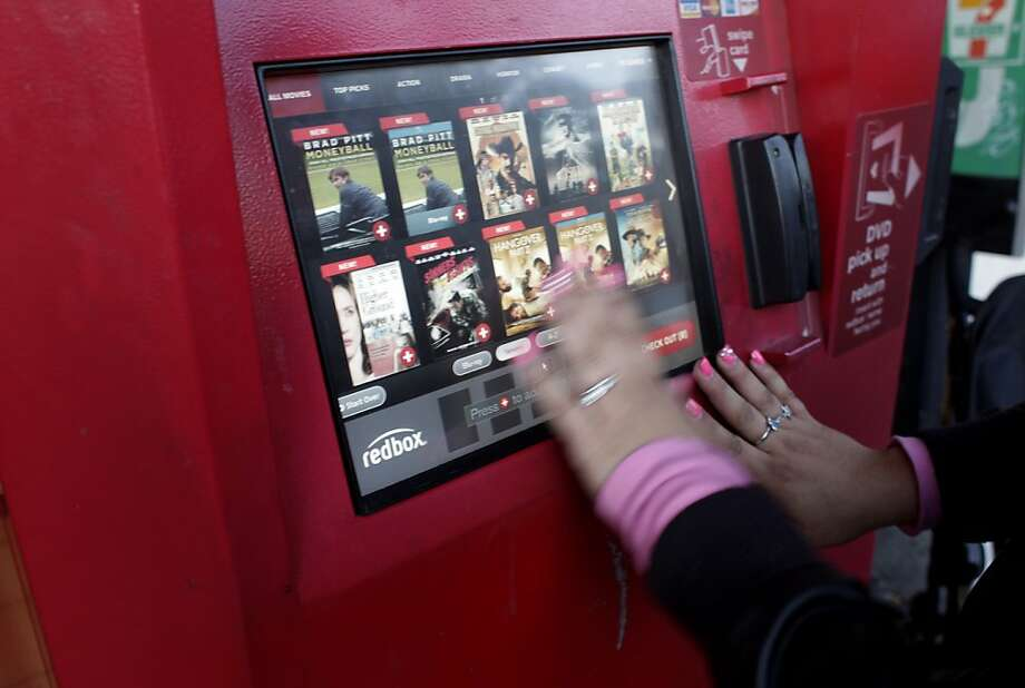 Redbox, the familiar kiosk that dispenses DVDs, will start selling tickets to concerts and attractions. Photo: Lacy Atkins, The Chronicle