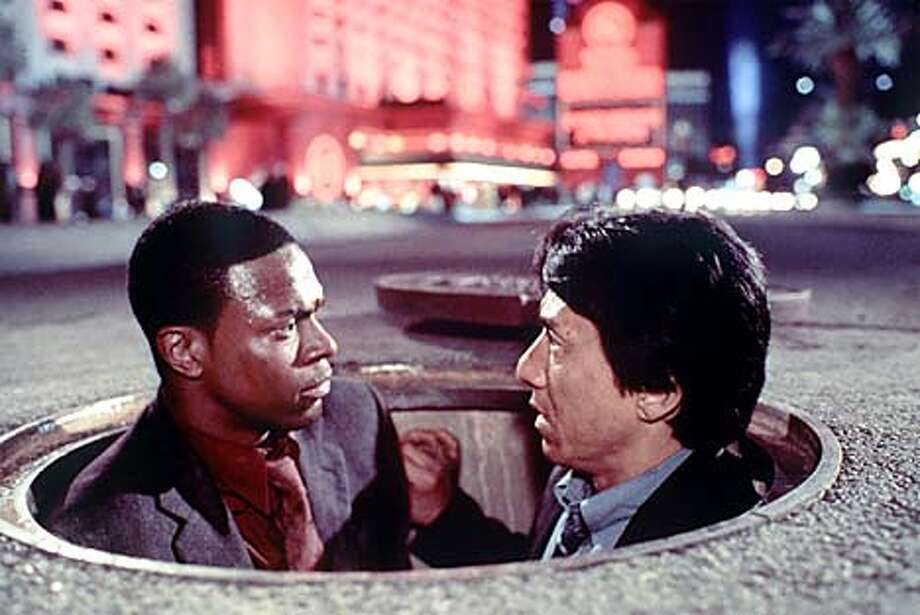 Chris Tucker and Jackie Chan star in New Line Cinema's action-comedy Rush Hour 2. Photo: HANDOUT