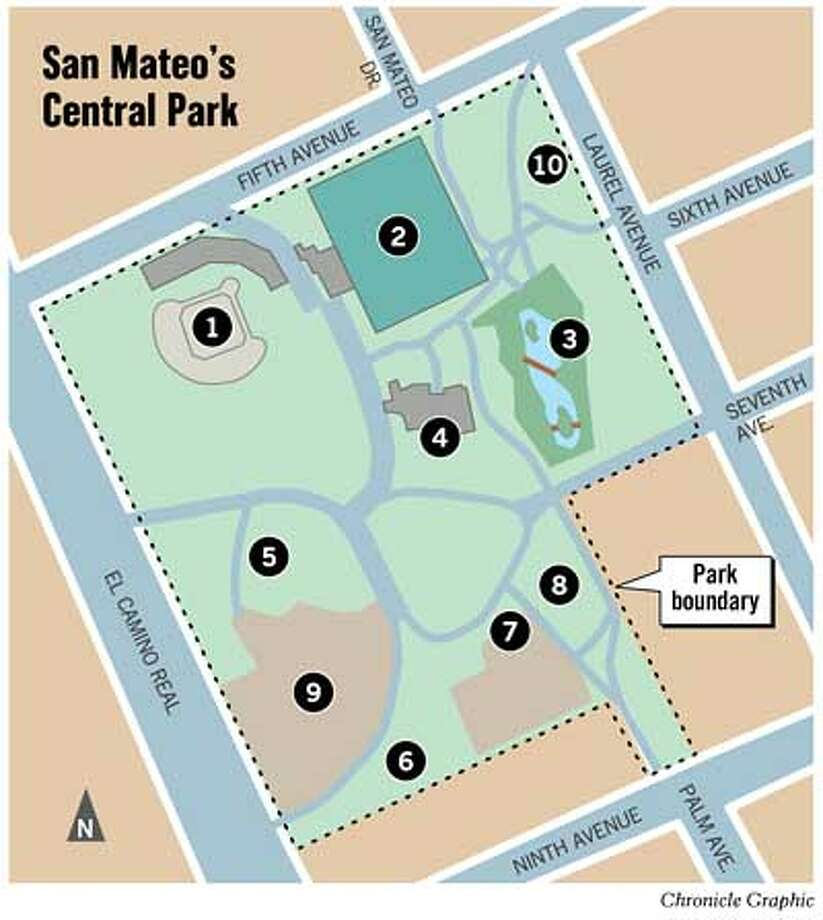 San Mateo's Central Park. Chronicle Graphic