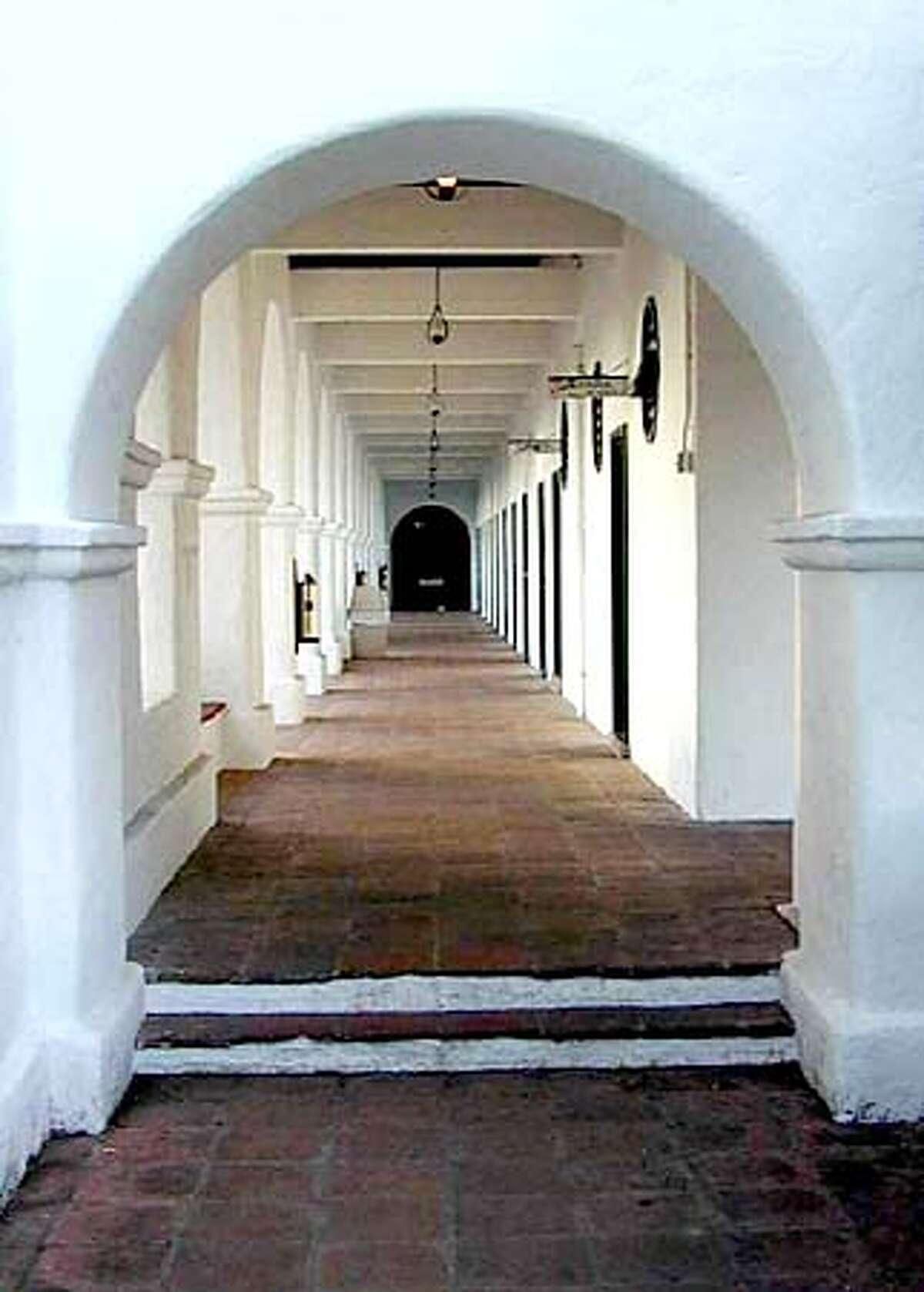Walkway to guest rooms at The hacienda David Laws