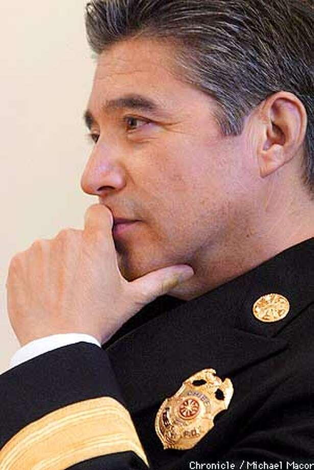 San Francisco Fire Department's new Chief, Mario H. Trevino. by Michael Macor/The Chronicle Photo: MICHAEL MACOR