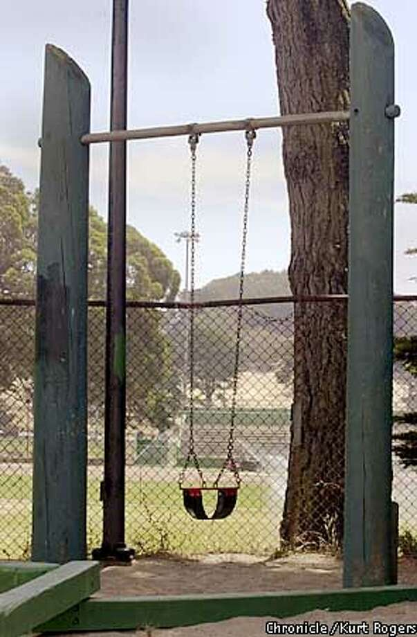 The worse parks of San Francisco. The only swing for small kids at Crocker-Amazon Playground. Photo By Kurt Rogers Photo: Kurt Rogers