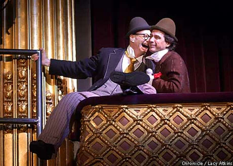 """Bill Irwin and David Shiner in the comedy play, """"Fool Moon"""", presented by A.C.T. at the Geary Theater. Photo By Lacy Atkins/SanFrancisco Chronicle Photo: Lacy Atkins"""