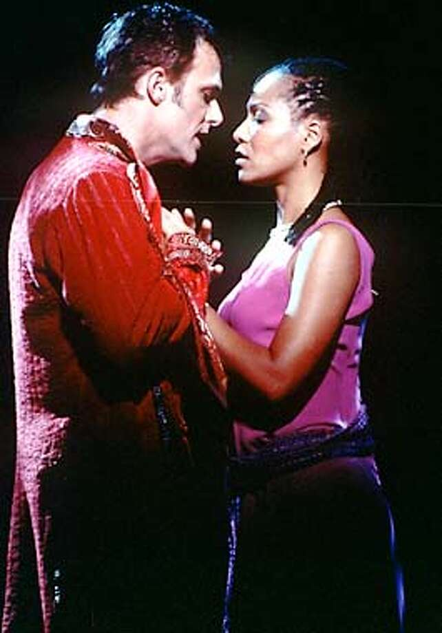 Simone and Patrick Cassidy in Elton John and Tim Rice's Aida. Photo Credit: John Marcus Photo: HANDOUT