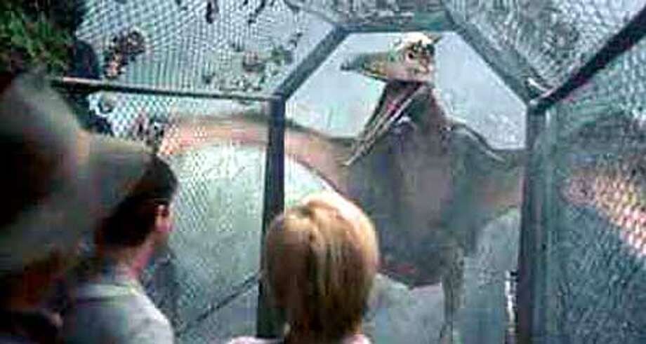 "Dinosaurs are portrayed as smart and sympathetic, except when they're trying to eat people, in ""Jurassic Park III"""