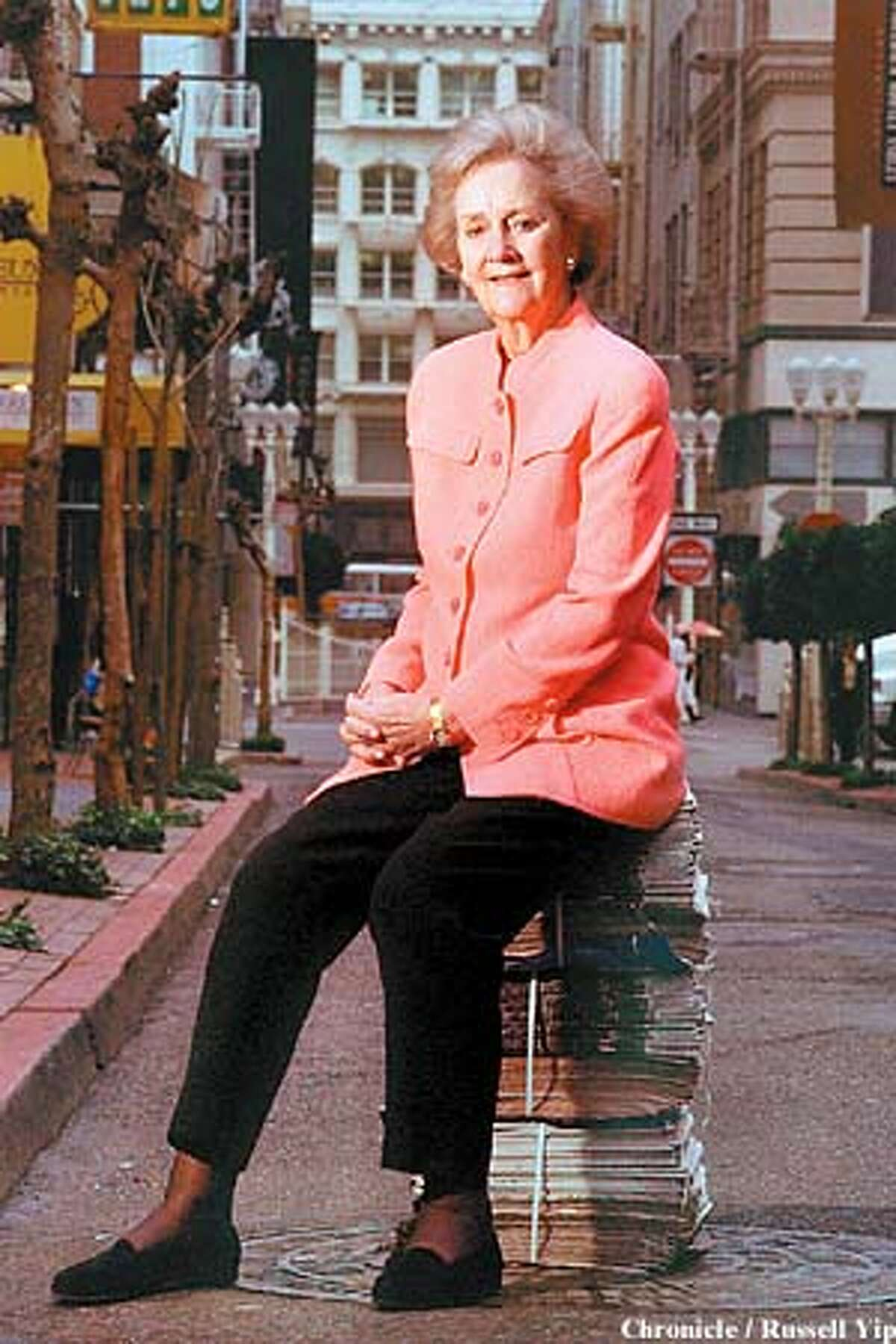 In town to promote a book, the late Katharine Graham posed for a photograph by the Chronicle's Russell Yip in 1997