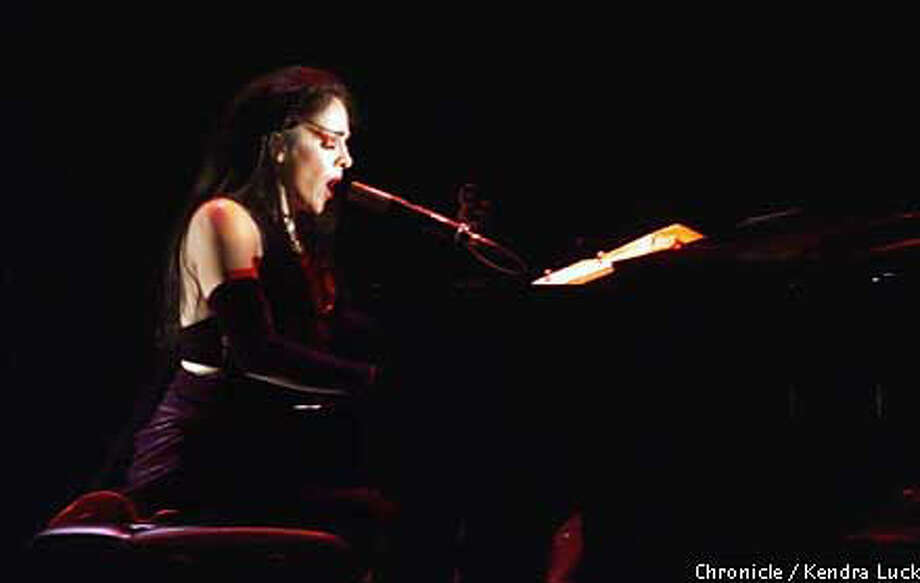 Diamanda Galas sang a dozen or so short selections, from spirituals and blues to little-known Greek numbers and original songs, at Zellerbach Hall.  Chronicle Photo by Kendra Luck