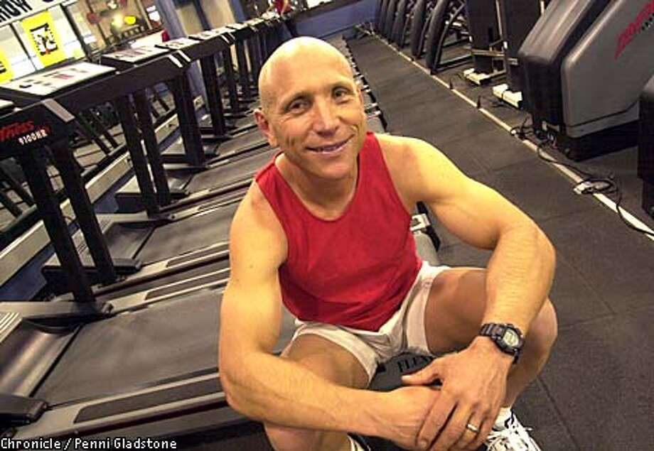 Greg Isaacs, personal trainer to the stars, took some time out for his own workout at Gorilla Fitness in San Francisco. Chronicle photo by Penni Gladstone