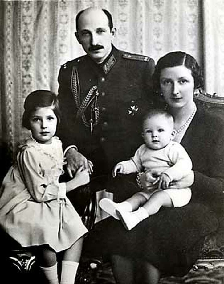 Bulgarian Royal Family from left to right: Princess Maria Luise, King Boris III, Crown Prince Simeon of Tirnovo and Queen Joana as photographed on January 30, 1938 on the King's 44th birthday. Photo: HANDOUT