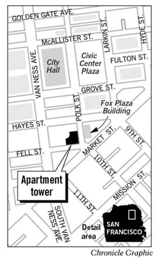 Civic Center Apartments. Chronicle Graphic
