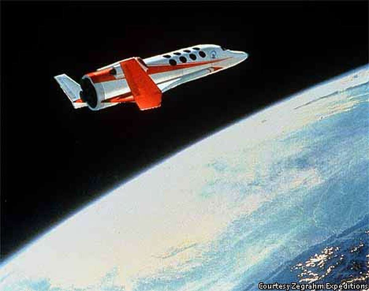 Tourists will enter the edge of space on vehicles like this Space Cruiser by Vela Technology Development Inc. / Courtesy Zegrahm Expeditions Photo Courtesy of Zegrahm Expeditions