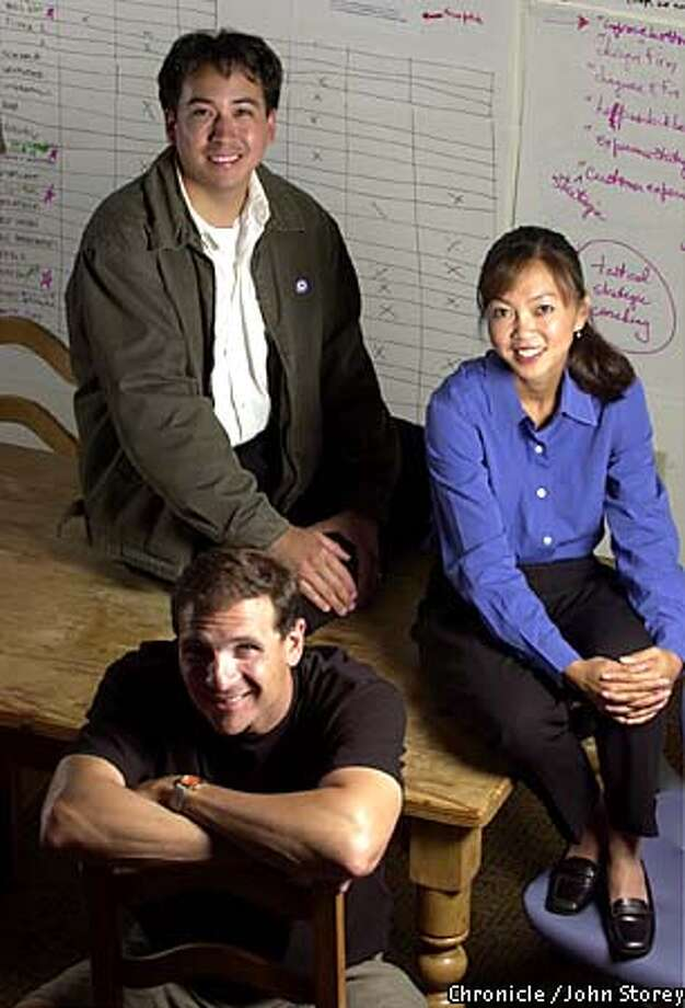Former dot-commers (from top left, clockwise) Jay Joichi, Krysten Nguyen and John Armitage found post-Internet boom life different. Chronicle photo by John Storey