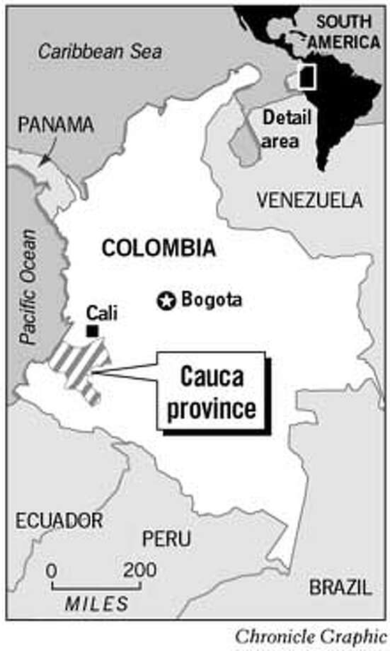 Cauca Province. Chronicle Graphic