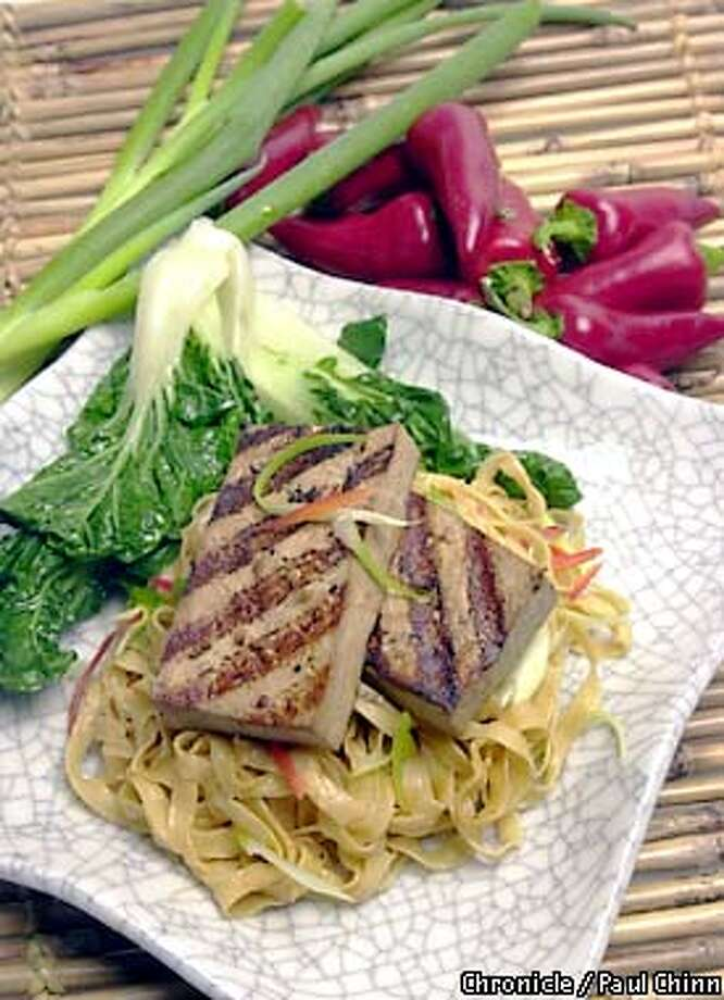 Grilled tofu with peanut noodles. STYLIST: NOEL ADVINCULA  PHOTO: PAUL CHINN/S.F. CHRONICLE Photo: PAUL CHINN