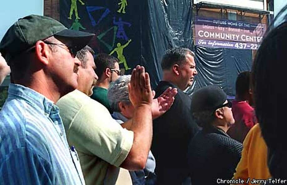 Audience members applaud during groundbreaking ceremony for SF's new Lesbian/Gay/Bisexual/Transgender Community Center.  1800 Market Street  BY JERRY TELFER/THE CHRONICLE Photo: JERRY TELFER