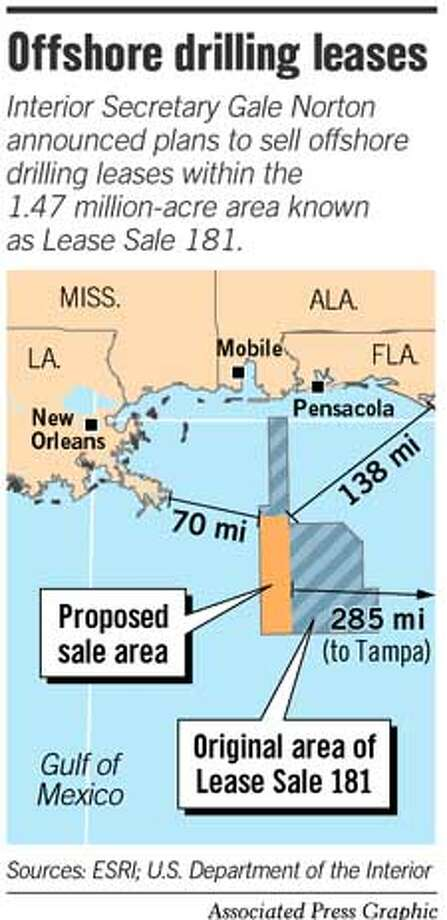 Offshore Drilling Leases. Associated Press Graphic