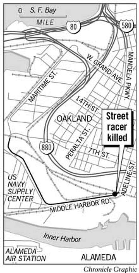 Street Racer Killed. Chronicle Graphic