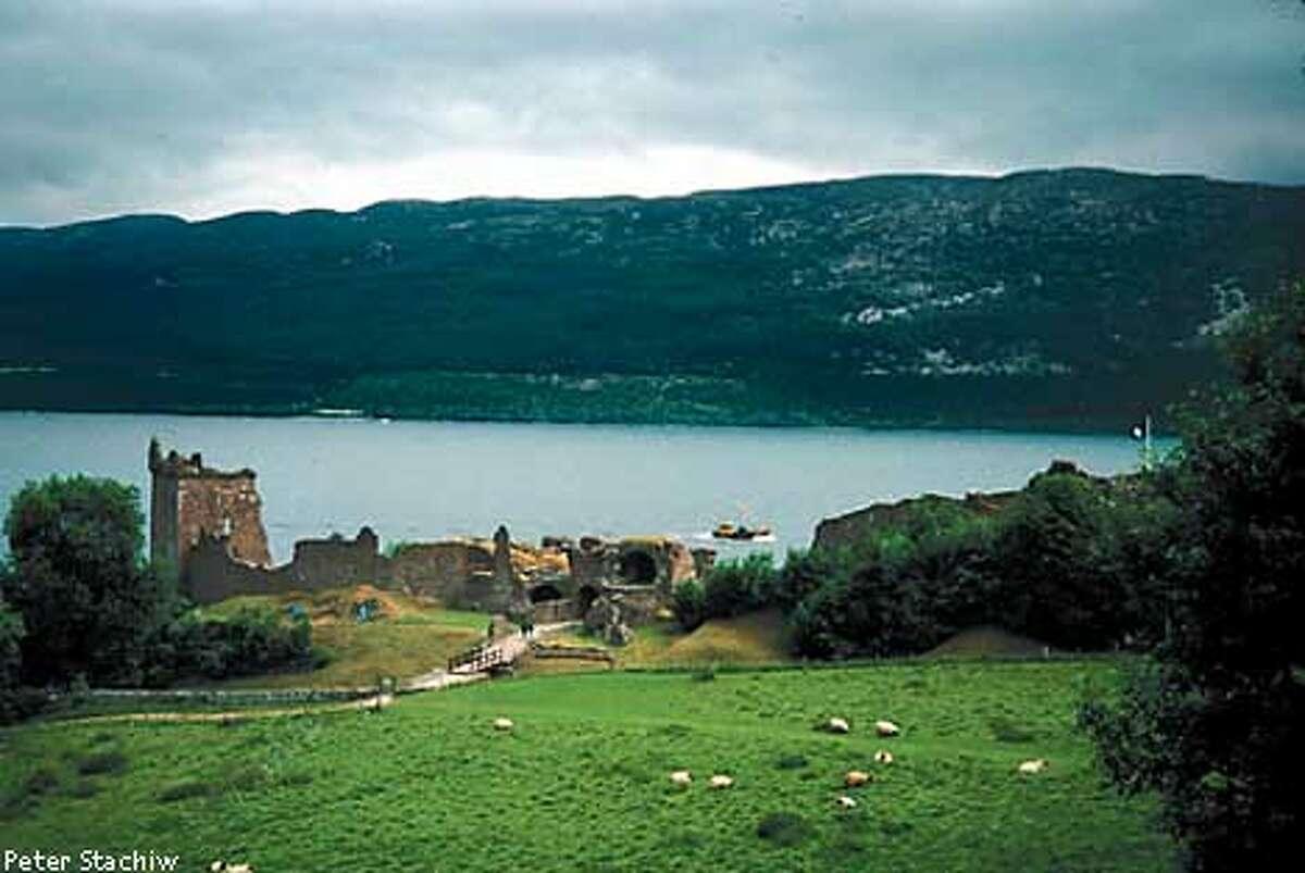 Jun 15, 1992; Loch Ness, Scotland; Urquhart Castle, Scotland: Urquhart Castle & Fort ruins on the shore of Loch Ness. Mandatory Credit: Photo by Peter Stachiw/ZUMA Press. (�) Copyright 1992 by Peter Stachiw
