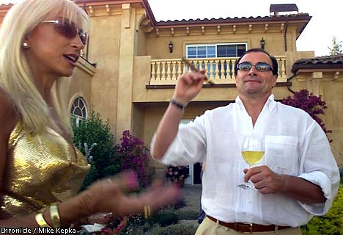 Daru Kawalkowski and Frank Husic of San Francisco also own second homes in Napa. Chronicle photo by Mike Kepka