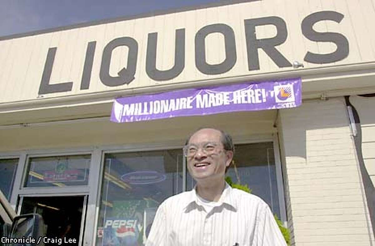 Photo of Alex Wang, owner of Union Avenue Liquors in San Jose where last Saturday's winning $141 million dollar lottery ticket was purchased. Photo by Craig Lee/San Francisco Chronicle