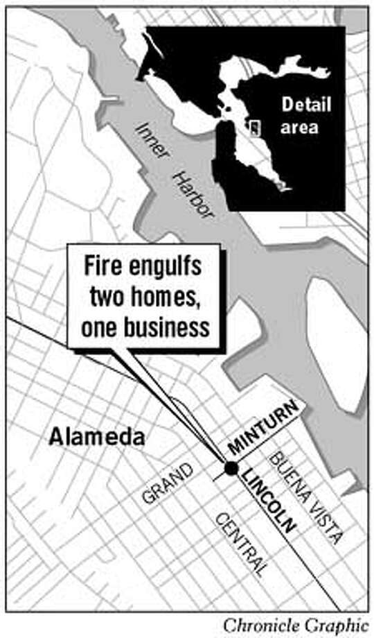 Alameda Fire. Chronicle Graphic