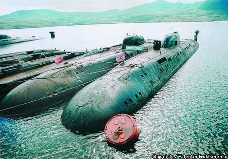 Russian nuclear submarines were docked in Kamchatka, where some sailors earn extra money with the stolen sub parts they sell. Photo by Valentin Trukhanenko, special to the Chronicle