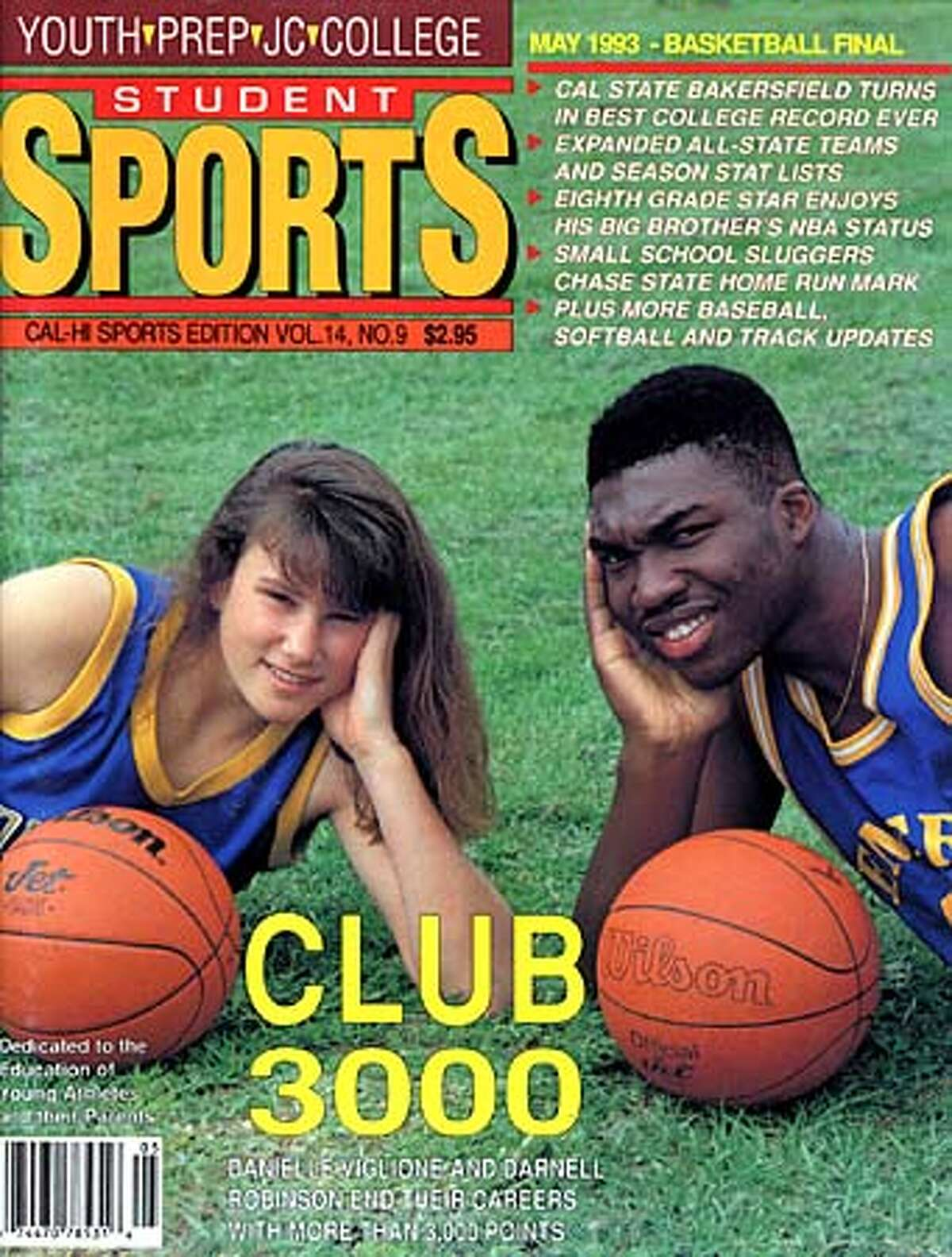 Robinson scored 3,359 points during his career at Emery High School, a feat that put him on the cover of magazines and made him a highly sought-after college recruit. Photo courtesy of Student Sports Magazine